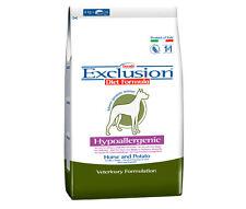 Crocchette mangime per cani exclusion kg 12,5 ipoallergenico cibo secco cane