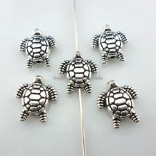 11/33/160pcs Tibetan Silver sea turtle Spacer Beads Fit Bracelet Crafts 11x13mm