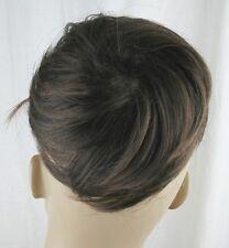 chestnut brown fake pony tail bun elastic hair piece extension scrunchie