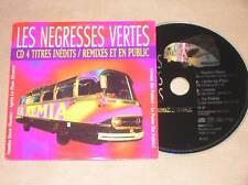 CD PROMO 4 TITRES INEDITS / LES NEGRESSES VERTES / TBE