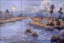 Coastal Tile Backsplash Robert Binks Art Ceramic Mural REB004