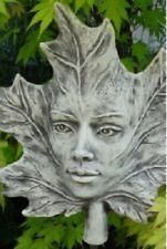 Skulptur Steinguss Blatt Baumhüter Gartenstecker Vidroflor frostsicher