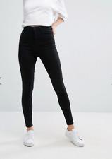 WAVEN @ TOPSHOP WOMENS ANIKA SKINNY JEANS TRUE BLACK - RRP £52