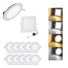 6W LED Panel Einbaustrahler Deckenleuchte Ultraslim Wandleuchte Spot + Trafo