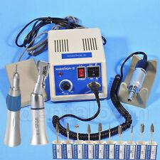 Dental Marathon 35K RPM MicroMotor Contra Angle Straight Handpiece Burs Dentista