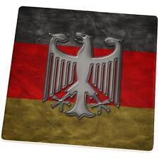 German Flag Eagle Crest Set of 4 Square Sandstone Coasters