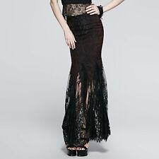 Punk Rave Maxi Rok Skirt Gothic Stylish Elegant Victoriaans Skirt Q-257