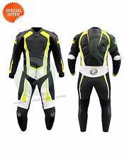 Moto costume avec fluorescent jaune revêtement avec VITESSE BOSSE et protection