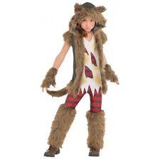 Werewolf Costume Girl Kids Halloween Fancy Dress