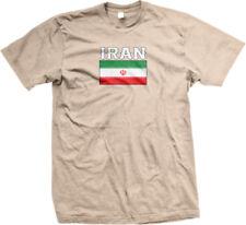 Iran Flag Colors Font Iranian Soccer Heritage Born From IRN IR Am Men's T-Shirt