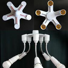 E27 To 5/7 E27 LED Lamp Bulb Splitter Adapter Holder Screw Converter Base Socket