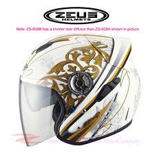 ZEUS ZS-608B Motorcycle Scooter Helmet Fiber Light Weight Jet DOT Safe Approved