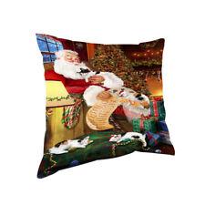 Santa Sleeping with Japanese Bobtail Cats Christmas Pillow Pil67888