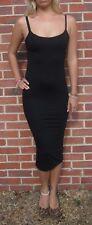 Womens Midi Tall Length Strappy Dress Summer New Black Size 8 10 12 14 16 18 20