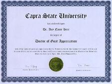Doctor Goat Appreciation Novelty Diploma Gag Gift Boar