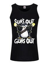 Psycho Penguin Sun's Out Guns Out Men's Black Vest
