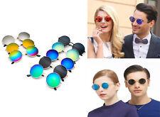 Rétro ronde miroir classique lunettes de soleil unisexe mode été sortie Outing