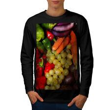 Vegetable Fruit Mix Food Men Long Sleeve T-shirt NEW | Wellcoda