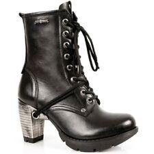 New Rock Boots Femmes Punk Gothic Bottes - Style TR001 S1 Noir