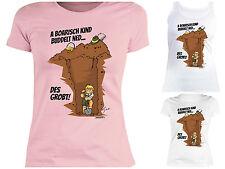 Bayrische Sprüche Damen T-Shirt - Damenshirt Mundart Bayern bayrische KInder