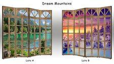 Separè Paravento Dream Mountains    Parete divisoria BIFACCIALE 3 o 4 ante
