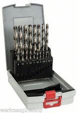Bosch Metallbohrer-Set für Stahl oder Edelstahl 19 und 25 teilig HSS-G und HSS-C