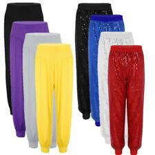 Women Harem Trousers Glitter Sequins Long Leggings Baggy Hareem Pants Yoga Dance