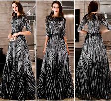 Elegant Abendkleider Cocktailkleid Ballkleider Lang Pailletten Kleider YSGZ61