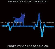 HEART BEAT LINE DOG MINIATURE BULL TERRIER Mini Adoption Rescue CAR METAL DECAL