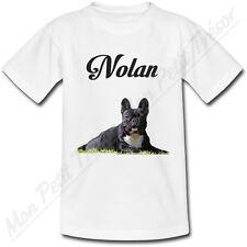 T-shirt Enfant Chien Bouledogue Français avec Prénom Personnalisé