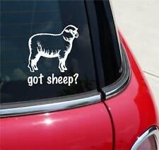 GOT SHEEP? WOOL FARM GRAPHIC DECAL STICKER ART CAR WALL DECOR