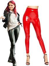 Womens Pu Latex Wet Look Shiny Legging Ladies Hi Gloss vinyl Fancy Pants