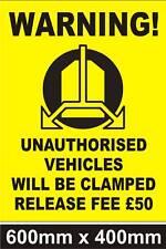 RUOTA di grandi dimensioni di bloccaggio sign-divieto di parcheggio-sicurezza