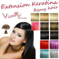 100 ciocche 0,8g Remy Hair veri EXTENSION CHERATINA 80 grammi 53 cm ultrasuon