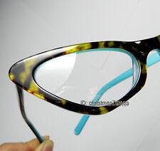 Women Cat eye Reading glasses Acetate reader 50-21-140 1 to 4 tortoise+blue New