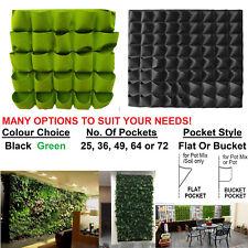 Vertical Garden Wall Setup Potting Mix Pockets Pouches Herb Plants Mint Growing
