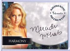 ANGEL; MERCEDES McNAB AS HARMONY AUTOGRAPH CARD A-34