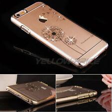 Glitter Luxury Women Bling Diamond Hard Case Cover + Glass For iPhone 6s 6 Plus