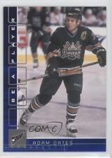 2001-02 In the Game Be A Player Memorabilia Sapphire #300 Adam Oates Hockey Card