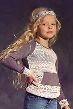 Jak & Peppar girls boho chic boutique lace Jameson sweatshirt hoodie 16 (10-14)