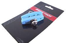 PAIR BLUE BRAKE BIKE BLOCKS 50MM PAD VINTAGE CITY RUBBER BLOCK SHOES FIXIE BMX