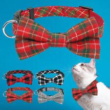 Cute Cat Bow Tie Designer Collar Pet Accessories Grid Kitten Necklace Cheap
