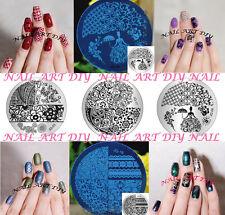 Nail Art Stamping-Piastra con Disegni diversi Manicure-Disco Decorazione Unghie!