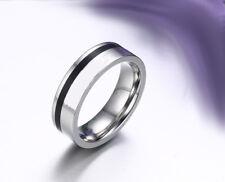 Ring Fingerring f. Damen und Männer Edelstahl Grau (Silber)(3)