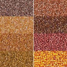 Miyuki Delica Beads rund 11/0 1,6mm hellbraun, helltopaz, haut, apricot a 5 g