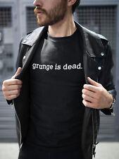 Mens Grunge Is Dead T-Shirt Music As Worn By Kurt Cobain Nirvana Retro 90s Top