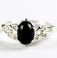 • SR302, Black Onyx, Sterling Silver Ladies Ring -Handmade
