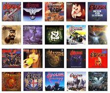 MINIATURE 1/12 Non Playable - LP. RECORD ALBUMS - Metal - SAXON - VARIOUS