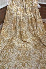 GOLD  French Toile de Jouy  COTTON VELVET Upholstery Curtain Designer Fabric
