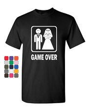 Game Over Funny T-Shirt Groom And Bride Wedding Tee Shirt